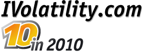 10 in 2010: IVolatility.com is celebrating its 10th anniversary in March 2010.